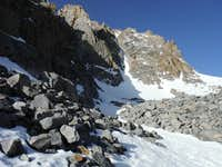 NE Couloir from Fifth Lake