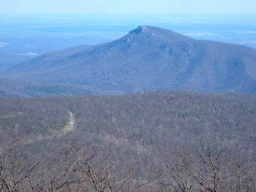 The rocky Old Rag (3268')...