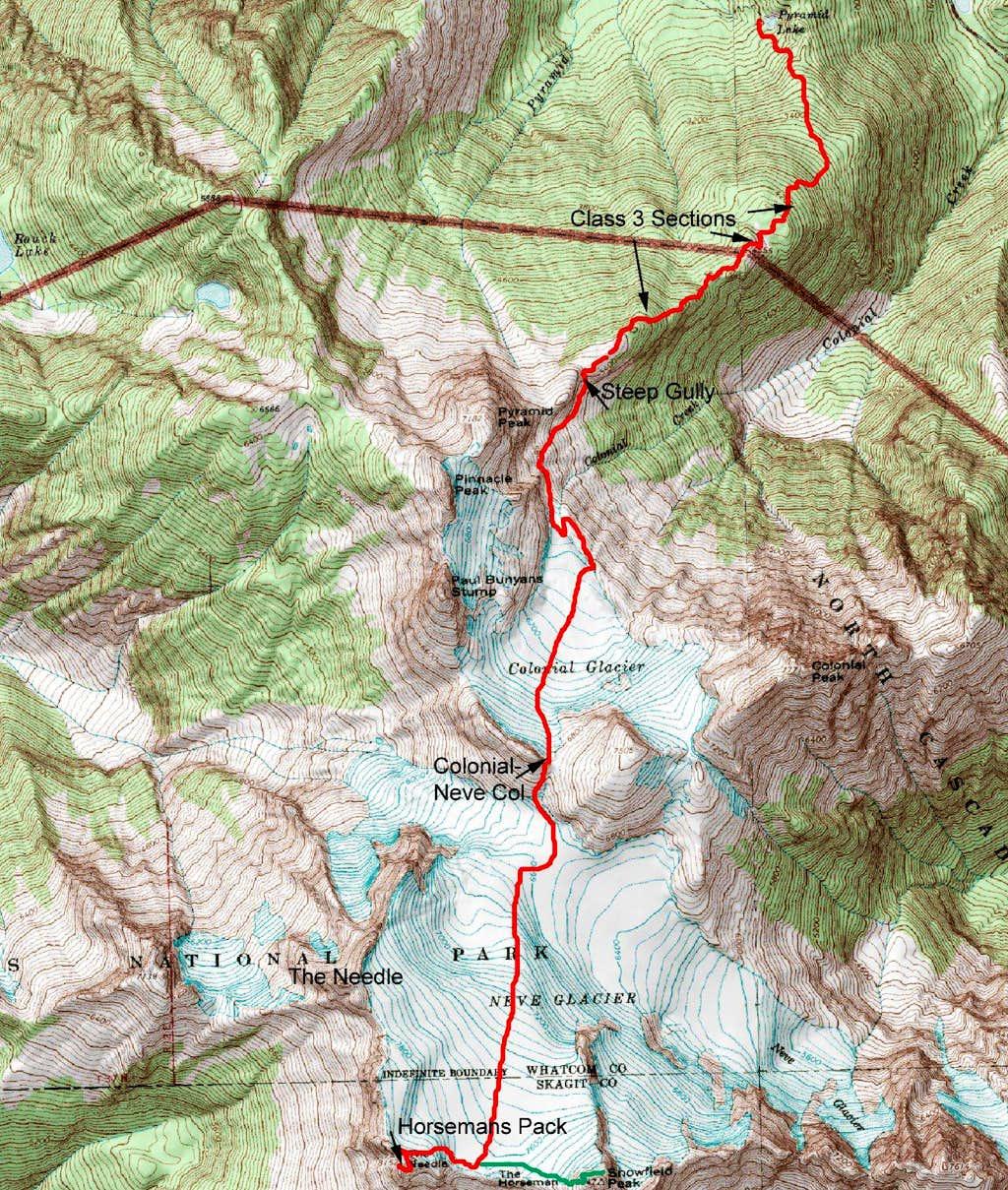 Horsemans Pack Route
