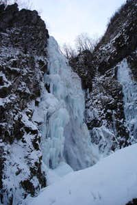 The frozen waterfall of...