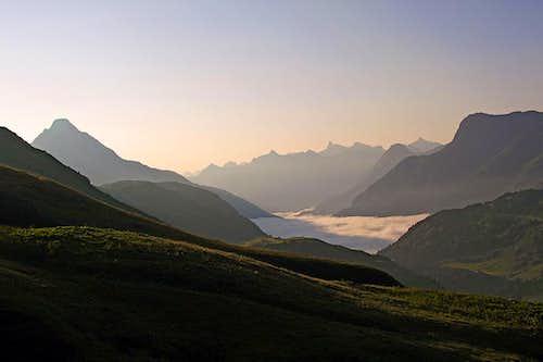 Morning above Hochtannbergpass