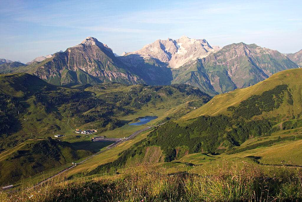 The view from near Widderstein Huette