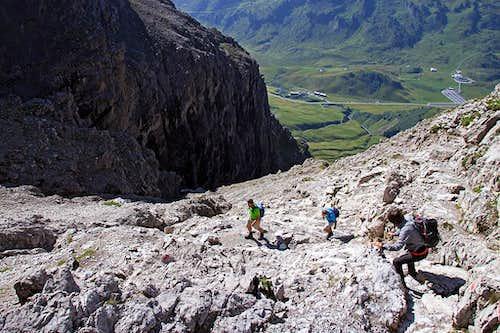 Descending into Widderstein south gorge
