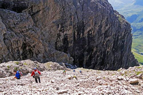 Descending by the S gorge of Widderstein
