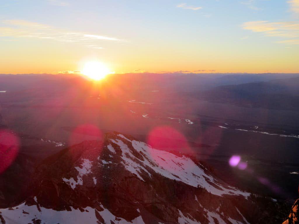 Sunrise over Jackson Hole