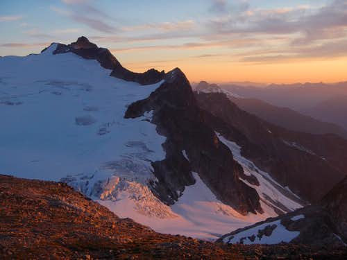 Neve Glacier Sunset View