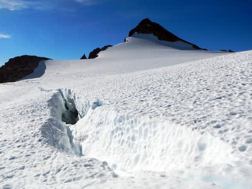Crevasse Below Snowfield