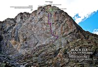 Four climbs in the Cirque: Warrior I NE Face, Pingora NE Face, Warbonnet Black Elk, Sundance Pinnacle NE Arete
