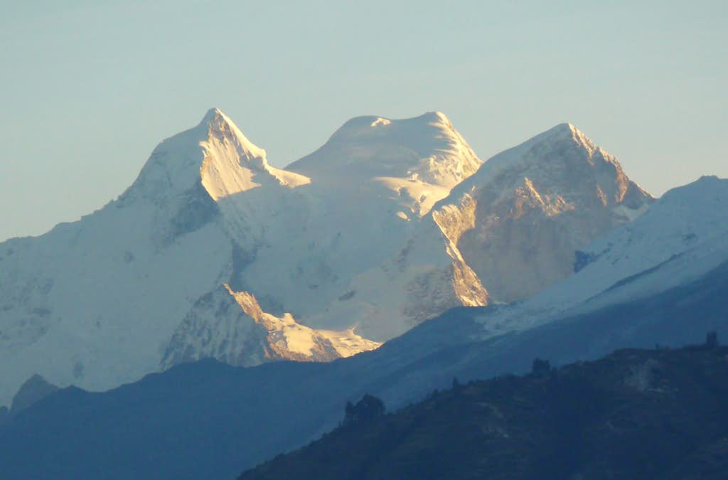 Huandoy Massif from Huaraz