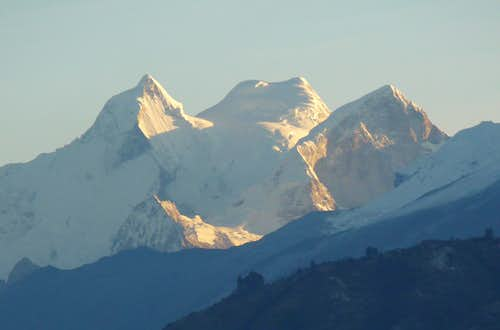 Huandoy Massif from Huaraz