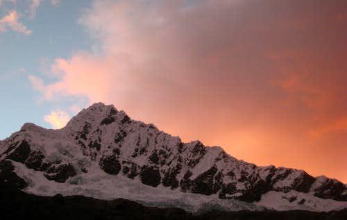 Sunset on Alpamayo