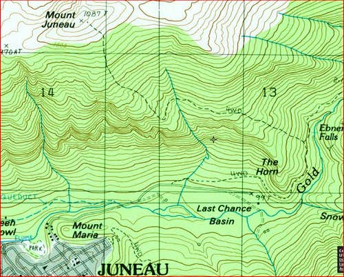 Mount Juneau Map