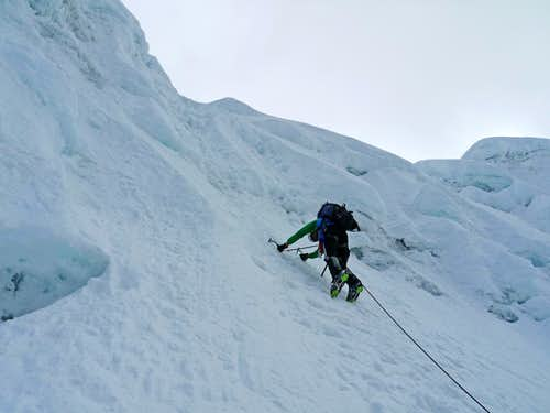 Matt Lemke Leading to the Alpamayo Col