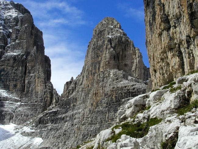 Cima Margherita south wall as...