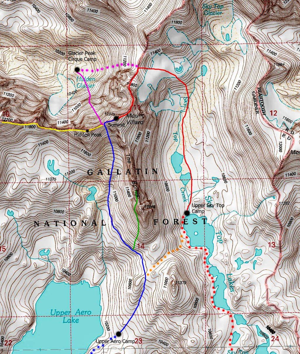 Mount Villard Map