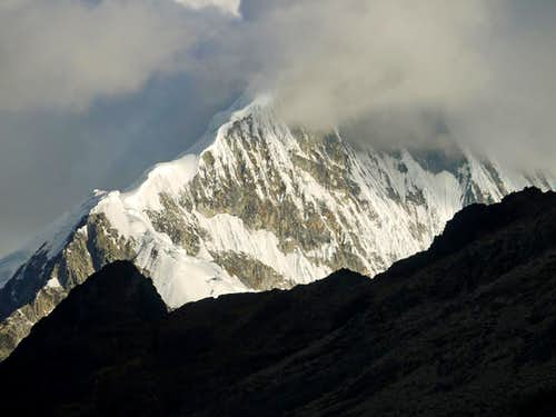 Artesonraju Covered in Clouds
