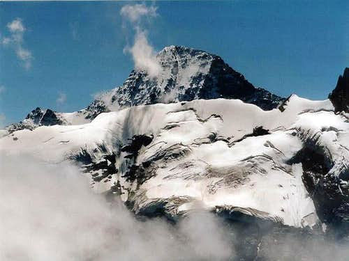 The Breithorn peak, looking...