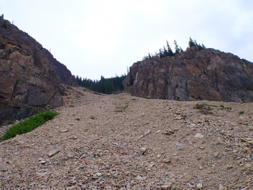 Looking up access gully