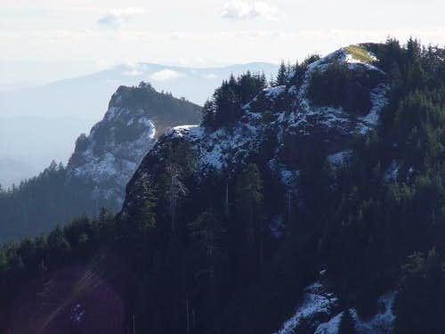 A view of the eastern summits...