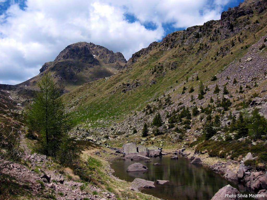 Cima delle Stellune from Buse Basse Lake