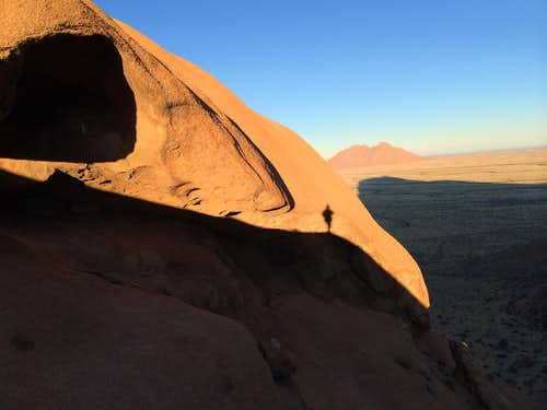 Sun rise from the South West ridge of Spitzkoppe