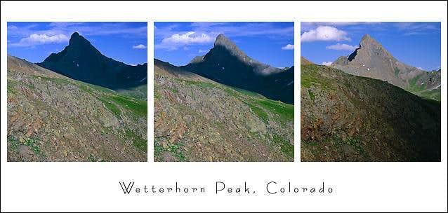 Wetterhorn Peak from the west...
