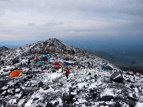 Snow at high camp