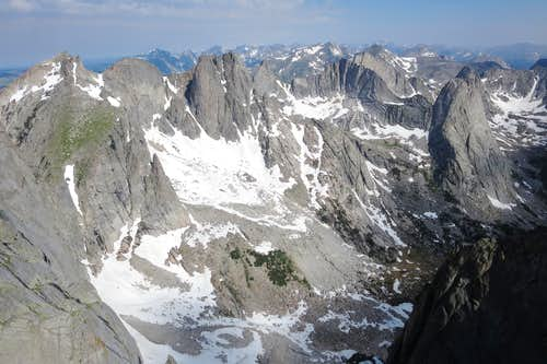 Cirque of the Towers from Warrior 1