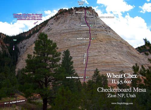 Checkerboard Mesa, Wheat Chex (Route Overlay)