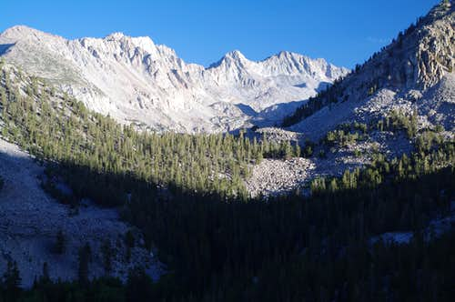 from Lamarck Lakes trail