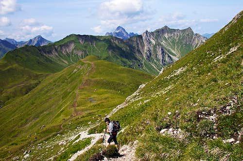 Descending on Hochalppass