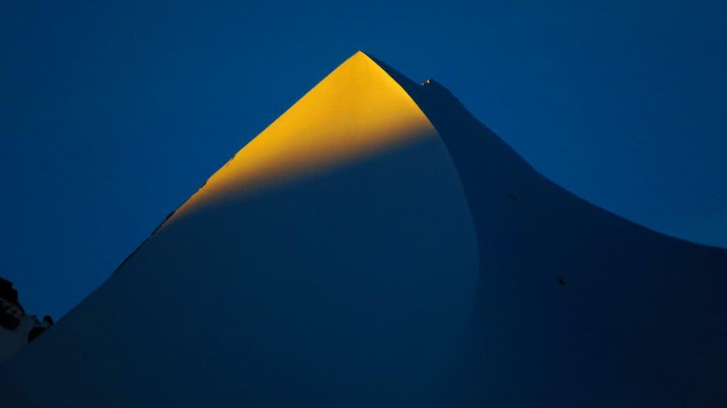 The first sunbeams at Silberhorn