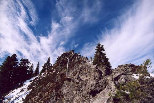 The summit of Larch Mountain,...
