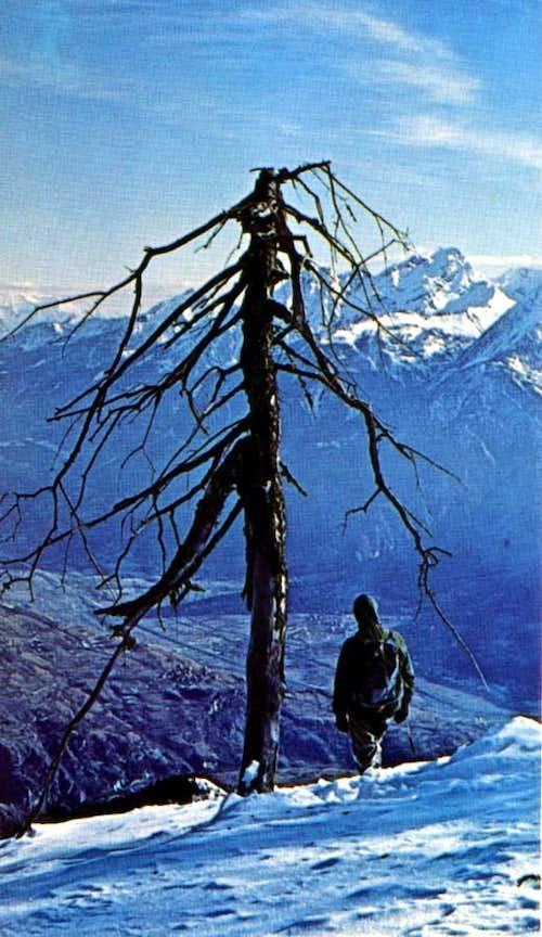 Croix de Fana Winter descent to East-southeast 1969