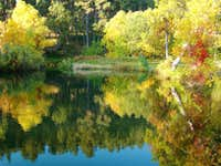 Fall Reflections on Grace Coolidge Creek