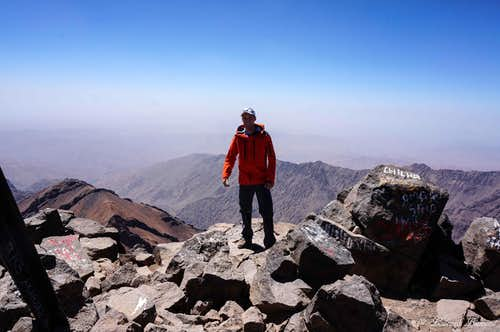 Me @ the summit of Jbel Toubkal (13671 ft / 4167 m); highest mountain in Northern Africa