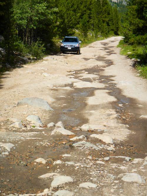 Main Fork Rock Creek Road Crux