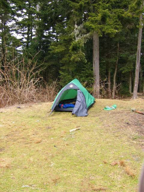 I pitched my tent pretty much...