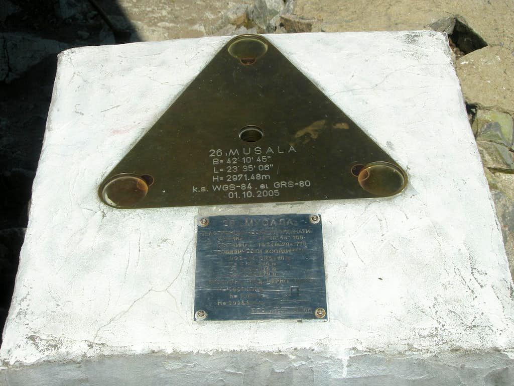 Musala Summit Marker