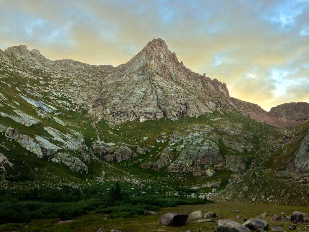 Good morning below Pigeon Peak