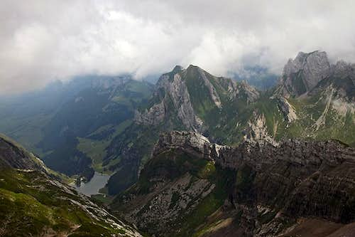 The view from Saentis towards the NE