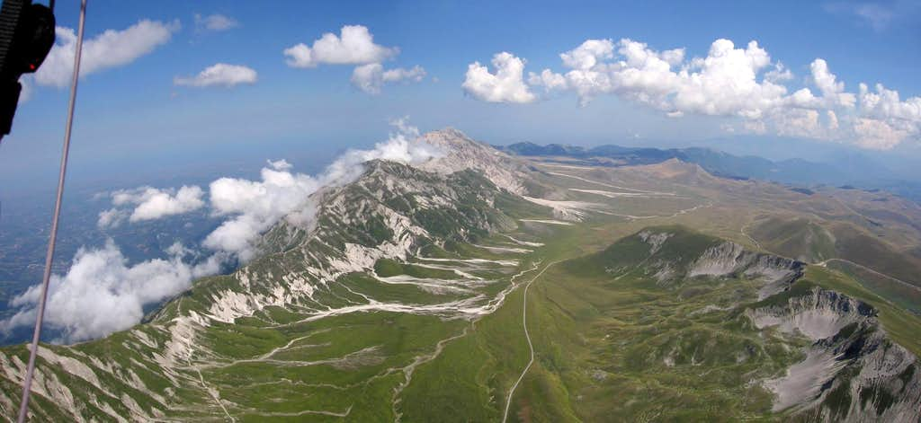 Campo Imperatore from above