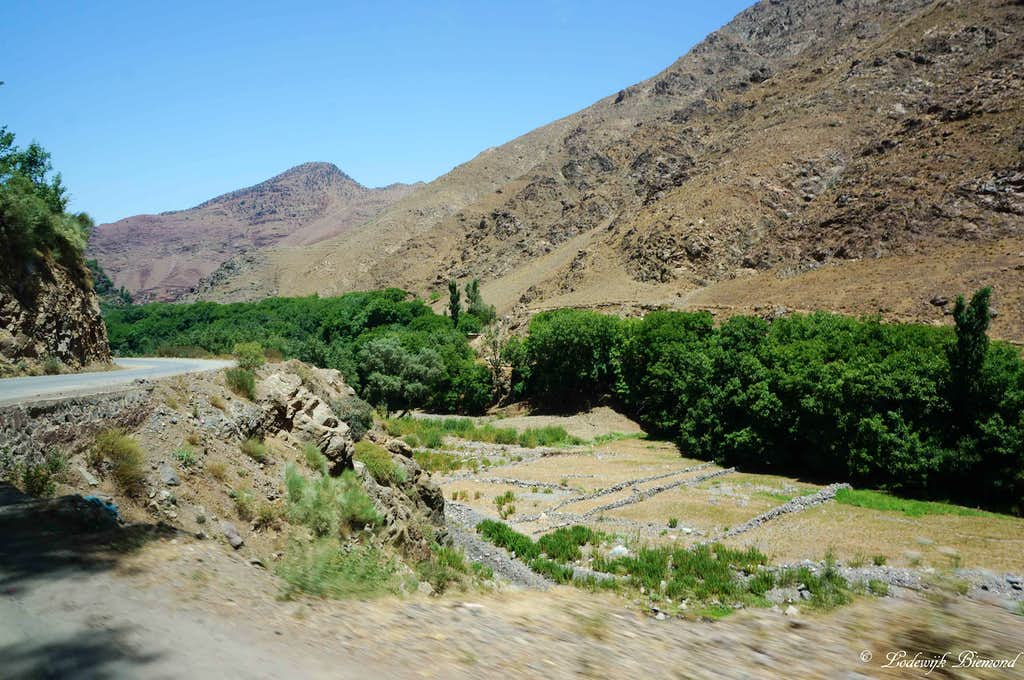 Paved Road between Asni and Imlil