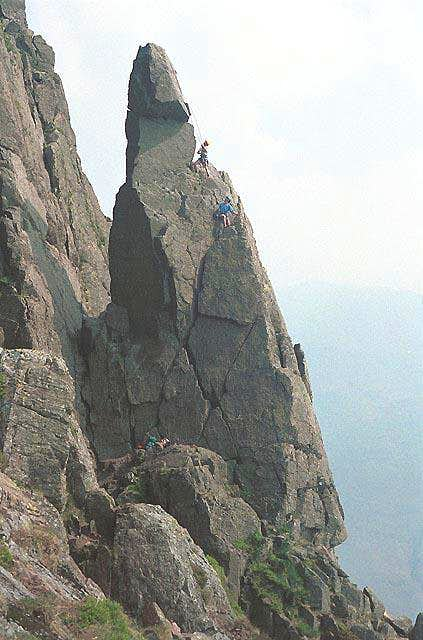 Napes Needle first climbed by...