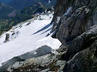 Snow Exit, Below Chimney