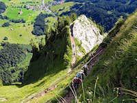 Gaining the main ridge