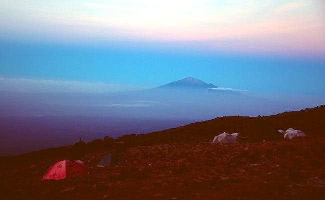Mount Meru seen from Karanga...
