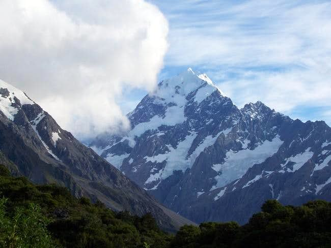 Mount Cook from Sealy Tarns...