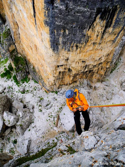 Torre Grande stunning North wall from Barancio abseils' line