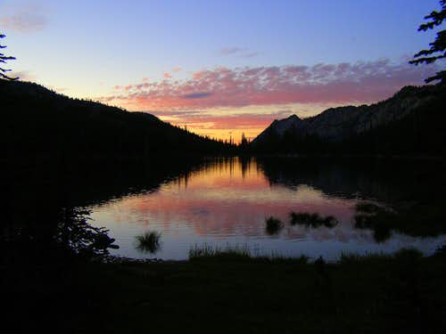 Minam Lake Sunset